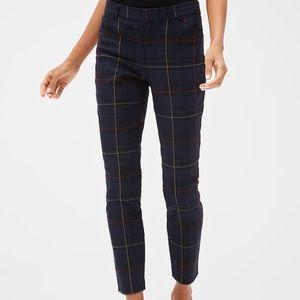 Gap Plaid Pants- Skinny Ankle Fit